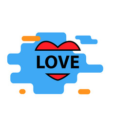 love on a white background vector image