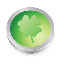 lucky button vector image