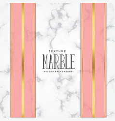 marble texture background with pink and gold vector image