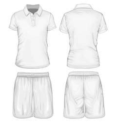 Mens polo-shirt and sport shorts vector