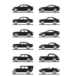 Modern and vintage cars vector image