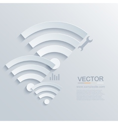 modern wifi zone icon vector image