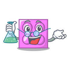 Professor toy brick character cartoon vector