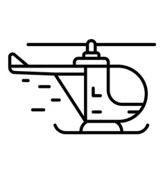 rescue helicopter icon outline style vector image