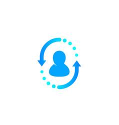 Returning customer client retention vector