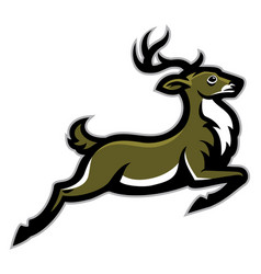 Running deer mascot vector