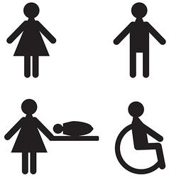 sanitary room vector image