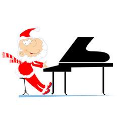 Santa claus a pianist vector