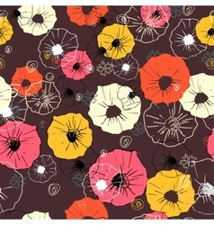 Seamless floral pattern Colorful flower vector
