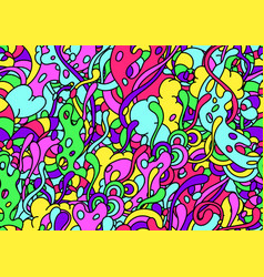 Seamless pattern with slime and tentacles vector