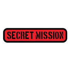 Secret mission stamp on white vector