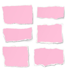 Set of rosy paper different shapes tears vector
