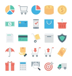 Shopping and E Commerce Colored Icons 1 vector image