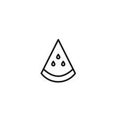 slice watermelon icon vector image