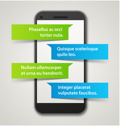 smartphone chat app vector image