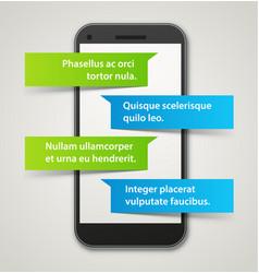 Smartphone chat app vector