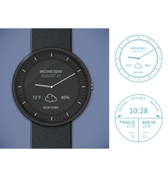 Smartwatch app template vector image