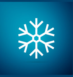 snowflake icon isolated on blue background vector image