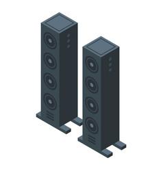 Sound system icon isometric speaker music vector