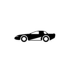 Sports coupe machine icon element of popular car vector