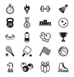 Sports Icons items inventory vector