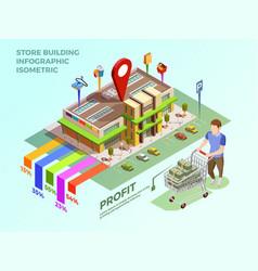 Store infograhic isometric concept vector