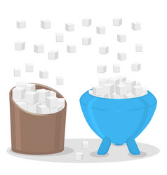 the theme sugar vector image