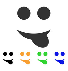 Tongue smile icon vector
