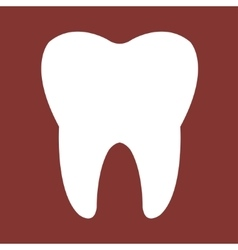 Tooth red Icon vector