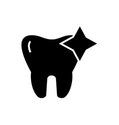 tooth with shine - cleaned icon vector image