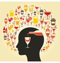 Alcohol a head vector image
