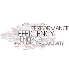 Efficiency word cloud concept vector