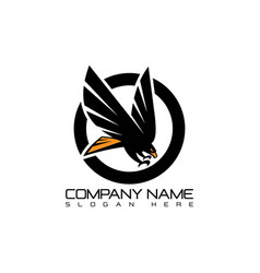 emblem eagle flying logo concept icon vector image vector image