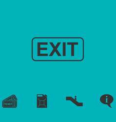 Exit icon flat vector