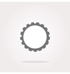 gear web icon button isolated on white vector image