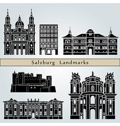 Salzburg landmarks and monuments vector image