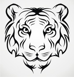 Tiger Face Tribal vector image vector image