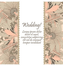 Wedding card with flowers lily vector image vector image