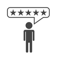 customer reviews rating user feedback concept vector image