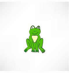 funny cartoon frog vector image vector image