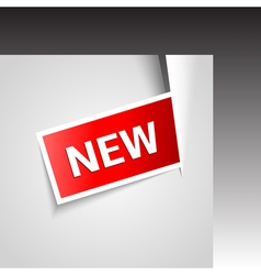 incise corner with new label vector image