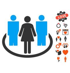 society icon with love bonus vector image vector image