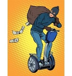 Tech stealing money vector image