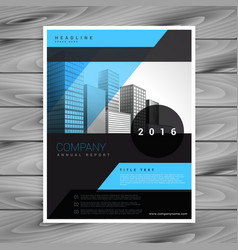 blue and black business brochure flyer template vector image vector image