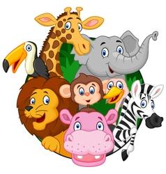 Cartoon safari animals vector image vector image