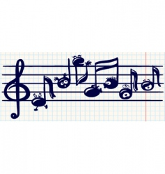 Music stave vector