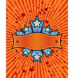 star banner orange vector image