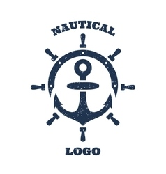 lighthouse and anchor logo vector image