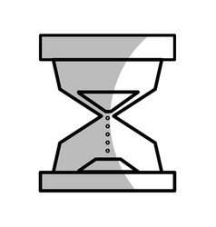 Line hourglass object to know the time vector