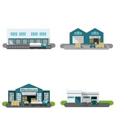 Warehouse Building Flat vector image